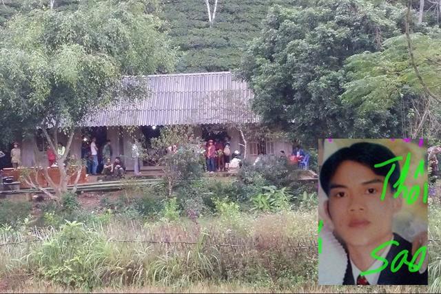 Chân dung nghi phạm Phạm Văn Thành (ảnh nhỏ). Ngôi nhà xảy ra vụ án mạng thương tâm. Ảnh: X.Thắng