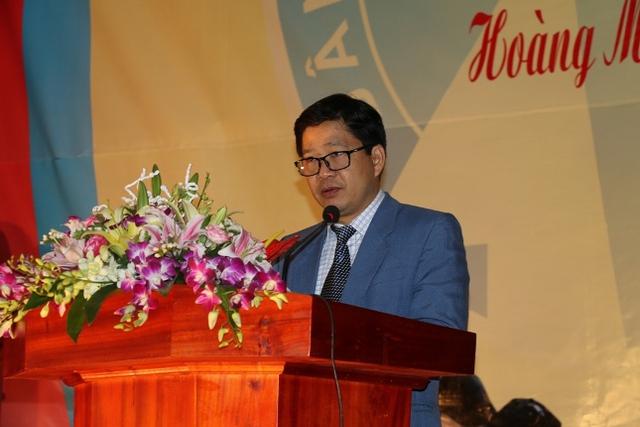 Vụ trưởng Vụ truyền thông giáo dục, Tổng cục DS/KHHGĐ phát biểu tại lễ phát động