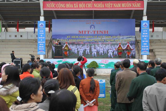 Đà Nẵng mit tinh kỷ niệm Ngày Dân số Việt Nam 26/12. Ảnh Đức Hoàng