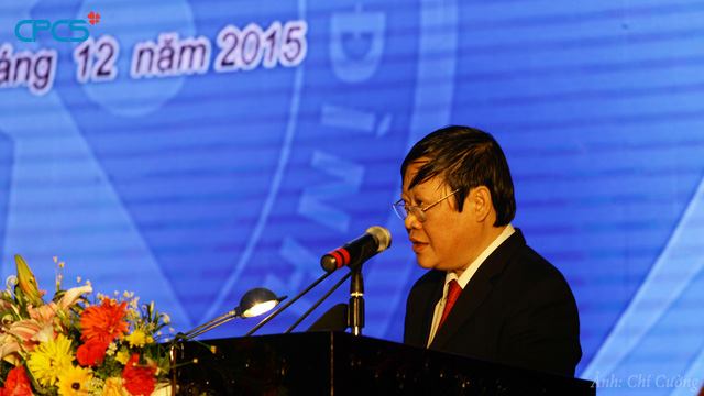 Thứ trưởng Bộ Y tế Nguyễn Viết Tiến phát biểu tại Lễ phát động