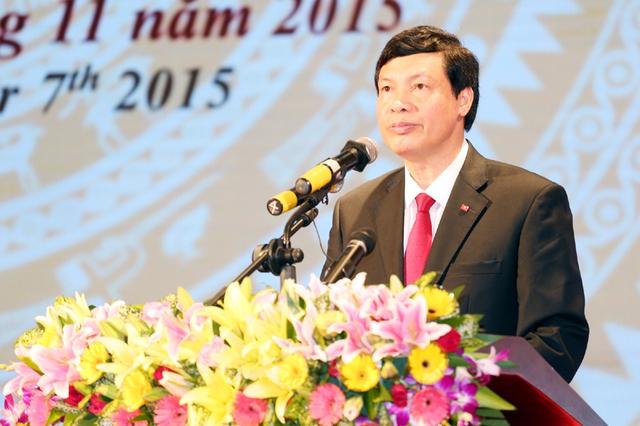 Đồng chí Nguyễn Đức Long, Phó Bí thư Tỉnh ủy, Chủ tịch UBND tỉnh phát biểu tại Hội nghị. Ảnh Báo Quảng Ninh