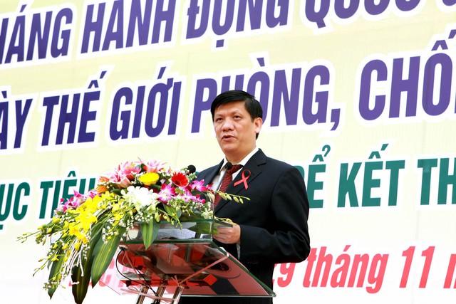 GS.TS. Nguyễn Thanh Long - Thứ trưởng Bộ Y tế phát biểu tại buổi lễ