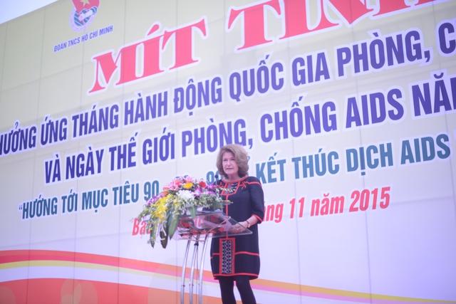 TS. Kristan Schoultz – Giám đốc quốc gia UNAIDSđánh giá cao nỗ lực của Việt Nam trong việc phòng, chống HIV/AIDS