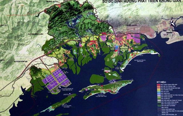 Sơ đồ định hướng phát triển không gian Khu kinh tế cửa khẩu Móng Cái đến năm 2030, tầm nhìn đến 2050
