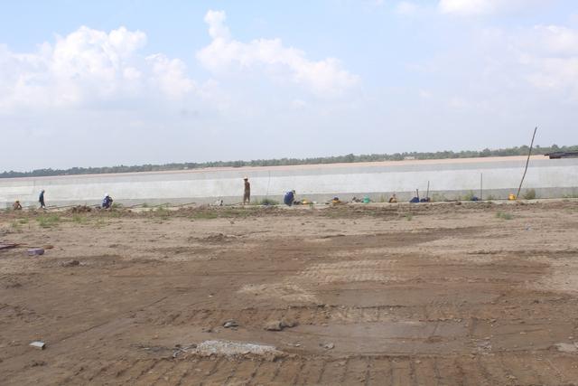 Khu vực cảng dự án nhiệt điện Sông Hậu 1