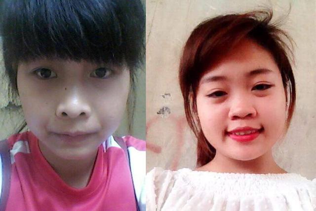 Hai nữ sinh quê ở Sóc Sơn (Hà Nội) là NguyễnThị Hoàn (trái) và VũThị Trâm mất tích sau khi rủ nhau vào nội thành ngày 31/8. Ảnh: Facebook