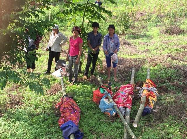 Thi thể 4 nạn nhân trong vụ thảm sát Yên Bái