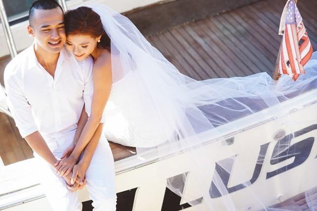 Cặp đôi chụp ảnh cưới ở Mỹ. Ảnh: Liebie