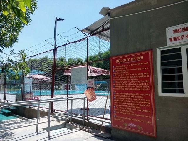 Bể bơi Công Đoàn nơi xảy ra sự việc.