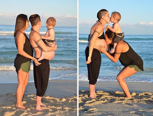 Bộ ảnh mang thai tuyệt đẹp của cặp đôi đồng tính người Mỹ.