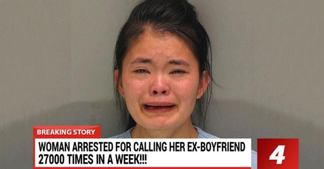 Kelly Murphy vẫn không ngừng khóc khi bị bắt. Cô gái được cho là bị ảnh hưởng tâm lý nặng nề sau khi chia tay bạn trai vừa quen… 2 tuần.