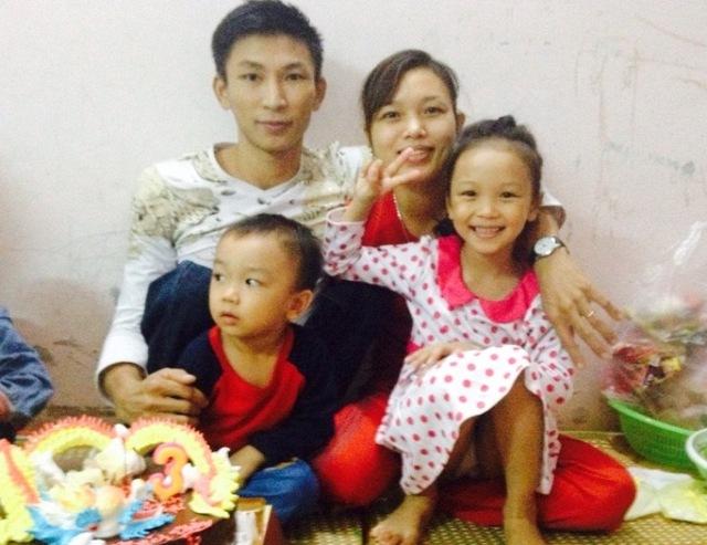 Gia đình nhỏ của anh Đồng, chị Mãi, 2 con ngoan giỏi trở thành niềm mơ ước của nhiều người.