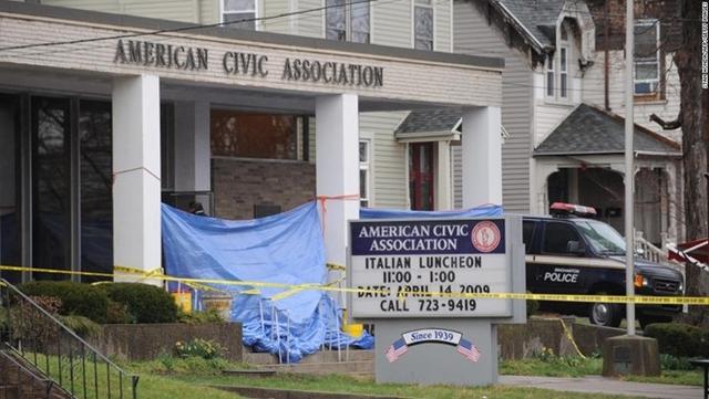 Trung tâm di trú Hiệp hội công dân Mỹ, nơi xảy ra vụ xả súng ngày 3/4/2009 (Ảnh: The Sun)