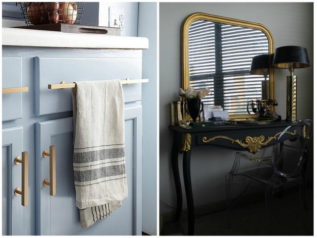 13. Những chi tiết mạ vàng khiến căn nhà bạn mang vẻ ngoài sang chảnh hơn hẳn.