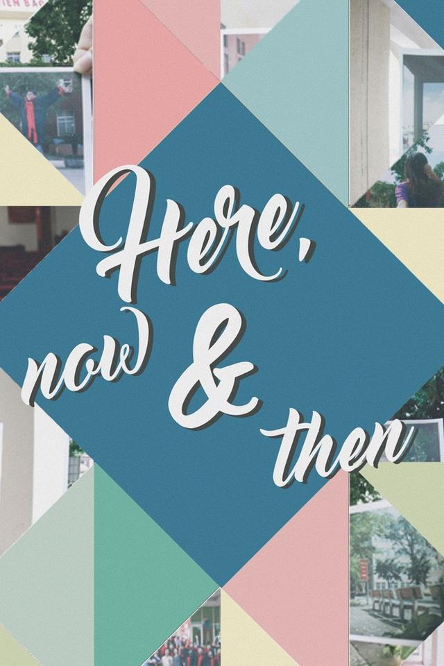 """Nằm trong chuỗi sự kiện Phút Cuối 2016, các bạn sinh viên trường Báo đã cho ra đời một bộ ảnh đặc biệt mang tên """" Here, Now and Then """" với ý tưởng lồng ghép giữa quá khứ và hiện tại. Bằng cách sắp đặt khéo léo những bức ảnh chụp từ nhiều năm trước trên nền những khung cảnh quen thuộc của Học viện Báo chí và Tuyên truyền, bộ ảnh vô cùng ý nghĩa và tinh tế được hoàn thành và gây ấn tượng mạnh mẽ trong những ngày tháng sắp kết thúc năm học này."""