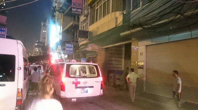 Vụ nổ lớn tại nhà nghỉ Sài Gòn Sun 3, Đình Thôn, Hà Nội khiến 1 người bị bỏng nặng. Ảnh: CTV