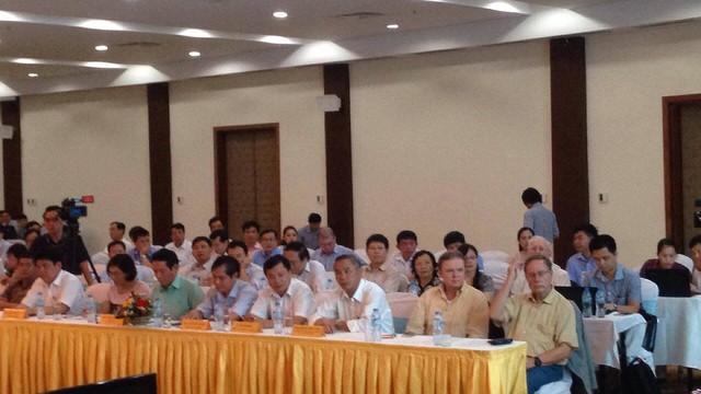 """Hội nghị """"Công bố kết quả đánh giá hiện trạng môi trường biển bốn tỉnh từ Hà Tĩnh đến Thừa Thiên – Huế"""". Ảnh: Lê Chung"""