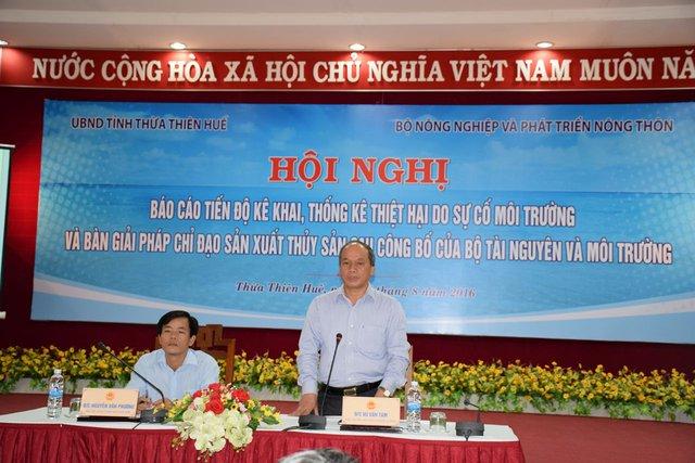 Thứ trưởng Bộ NN&PTNT Vũ Văn Tám phát biểu tại hội nghị. Ảnh: Lê Chung