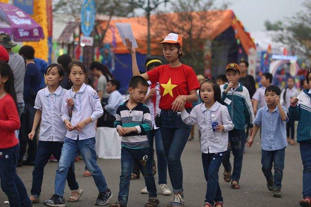 Hội thi còn có sự tham gia của nhiều em nhỏ đến từ các trường Tiểu học