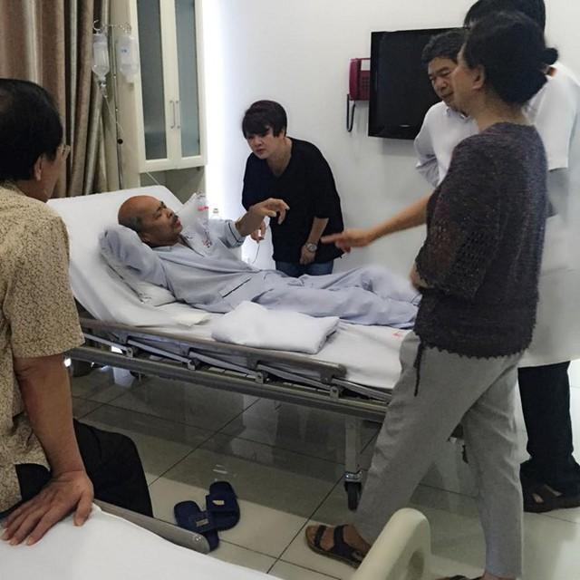 Nữ diễn viên cho biết tình hình sức khỏe của nghệ sĩ Hán Văn Tình hiện rất khó khăn và không nói trước được điều gì. Ảnh: Facebook diễn viên Trà My.