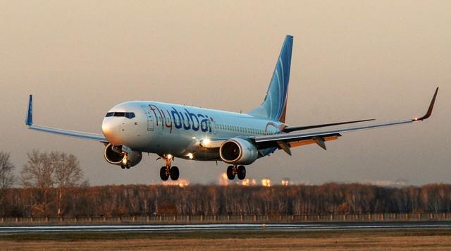 Một chiếc máy bay của hãng hàng không FlyDubai. (Ảnh: Sputnik)