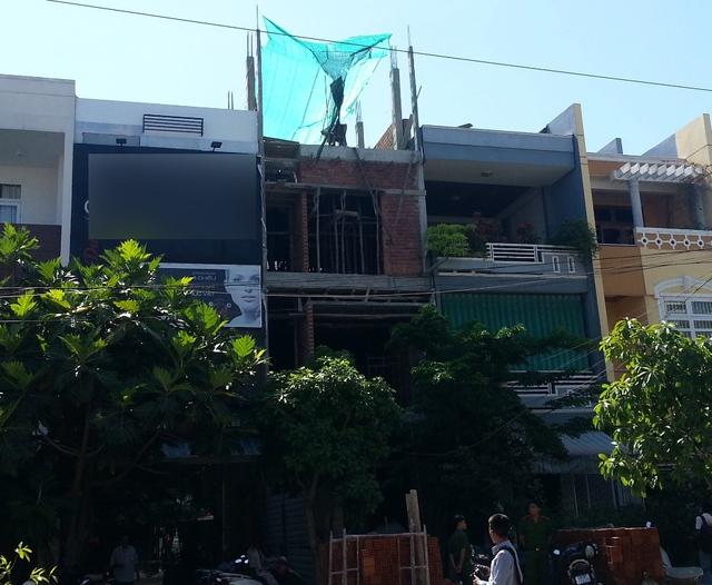 Công trình xây dựng nhà ở - nơi xảy ra tai nạn lao động đáng tiếc. Ảnh: Đức Hoàng