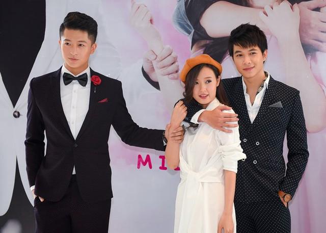 Trong phim, Midu bị vướng vào mối quan hệ tay ba với Harry Lu - Anh Tú. Ảnh: Nguyễn Bá Ngọc