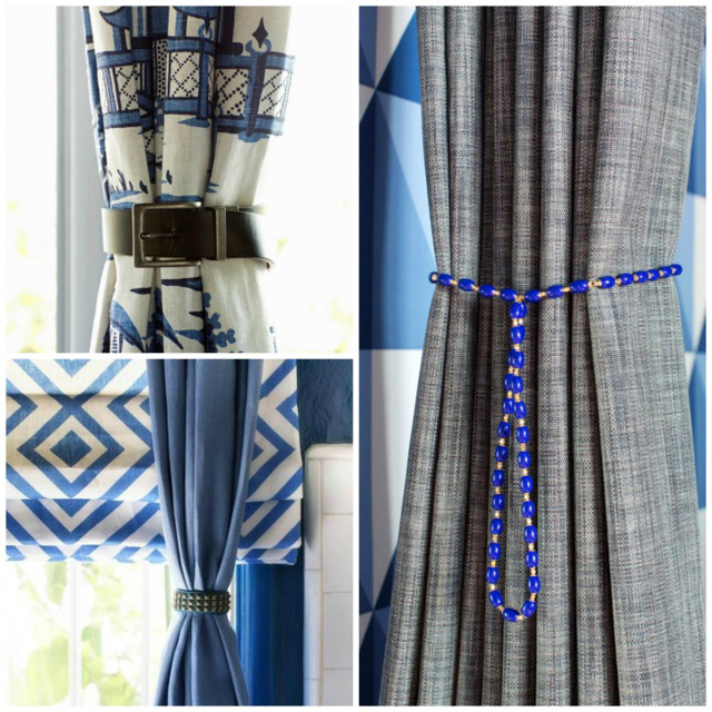 5. Chơi đùa chút xíu cùng dây buộc rèm nhé, chỉ một thay đổi nhỏ thôi cũng khiến nội thất trong nhà trở nên hay ho hơn rất nhiều.