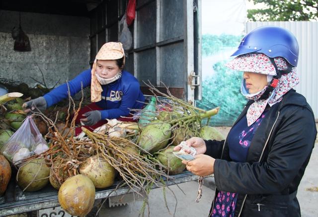 Hiện tại dừa Bến Tre có chỗ bán đến 17.000 đồng/quả, nếu vào các quán nước, quán cà phê ở TP Quy Nhơn thì giá cao ngất ngưỡng.