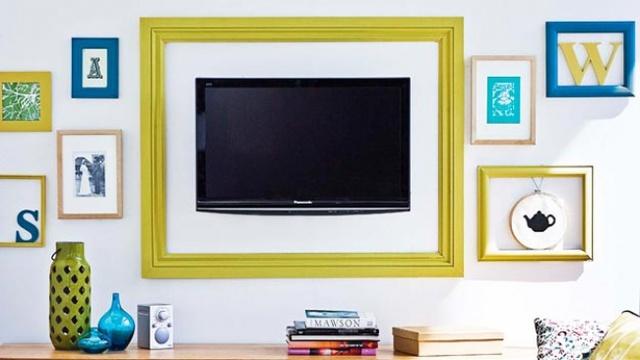 6. Đã bao giờ bạn nghĩ tới việc đóng khung cho TV chưa?