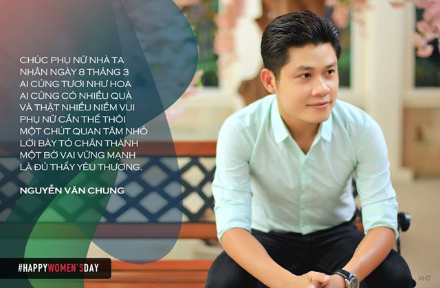 Nhạc sĩ Nguyễn Văn Chung thể hiện tài lẻ làm thơ với lời lẽ nhẹ nhàng, tình cảm. Trong đời sống vợ chồng, tác giả Nhật ký của mẹ cũng là người lãng mạn và chiều chuộng bà xã.