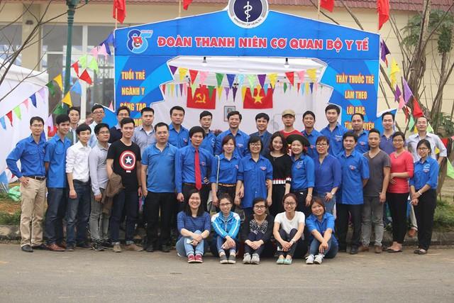 Tập thể đoàn viên thanh niên Bộ Y tế