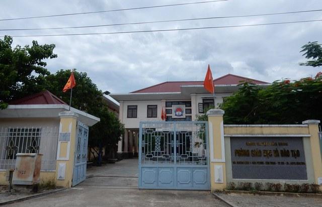 Trụ sở Phòng GD&ĐT huyện Hòa Vang. Ảnh: Đức Hoàng