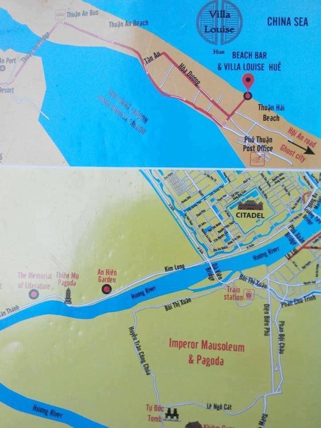 """Tấm bản đồ trên đó """"East Sea"""" (Biển Đông của Việt Nam) bị viết thành """"China Sea"""" (biển Trung Quốc). Ảnh: FB"""