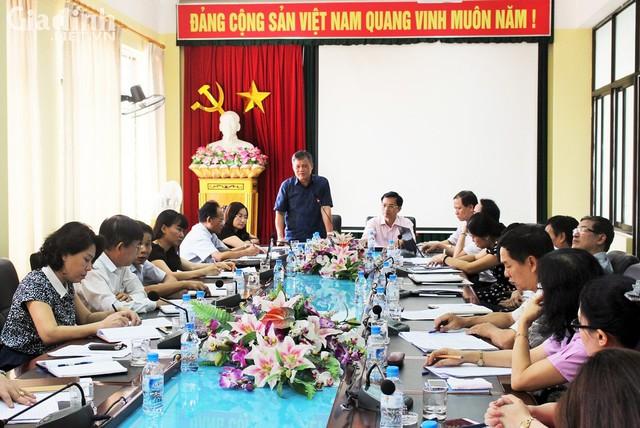 Ông Nguyễn Xuân BÌnh- Ủy viên BTV Thành ủy, Trưởng Ban chỉ đạo phát biểu tại hội nghị. Ảnh: ĐB