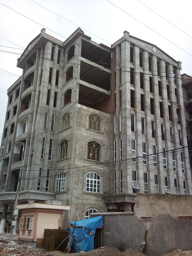 Công trình sai phạm của HTX CN Thanh Tùng bị phát hiện sai phạm khi còn đang xây dựng. Ảnh: Hà Châu