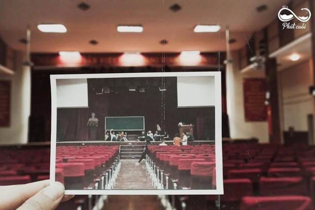 Hình ảnh trong hội trường với những lần diễn tập văn nghệ.
