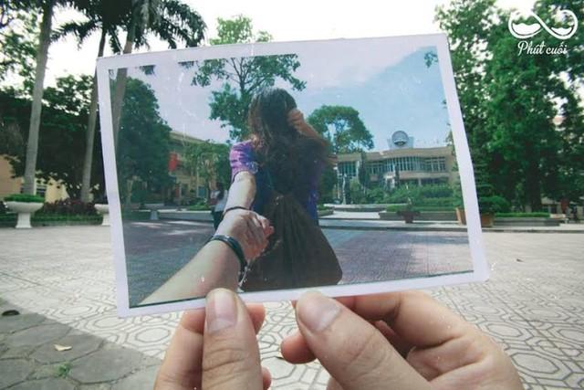 Theo trào lưu ảnh Nắm tay em đi khắp thế gian cách đây không lâu, ban tổ chức Phút Cuối cũng theo ý tưởng đó thực hiện hình ảnh nắm tay đi vào Học viện cũng vô cùng thú vị và ấn tượng. Qua đó thể hiện vẻ đẹp trong khuôn viên trường một cách rất mới lạ.