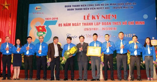 Đoàn thanh niên cộng sản Hồ Chí Minh Viện Huyết học& Truyền máu TW nhận bằng khen của Thủ tướng Chính phủ.