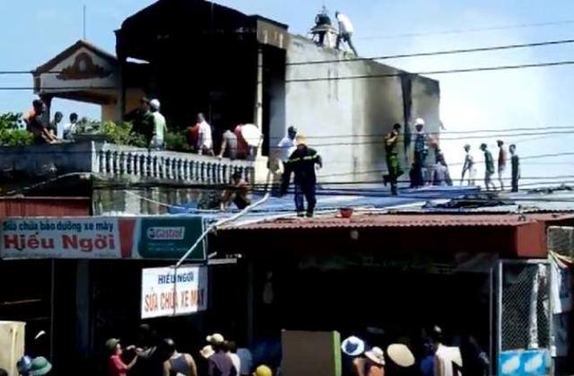 Hiện trường vụ cháy khiến hai cháu bé tử vong. Ảnh: M. Lý