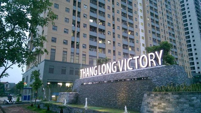 Tòa chung cư Thăng Long Victory (KĐT Nam An Khánh, Hoài Đức, Hà Nội). Ảnh: T.G
