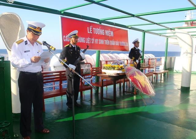 Lễ tưởng niệm các anh hùng liệt sĩ đã chiến đấu hi sinh trên quần đảo Trường Sa.