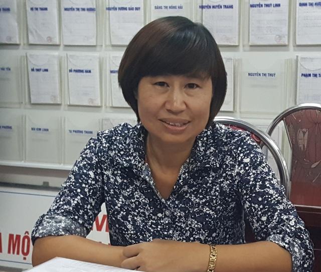 Bà Nghiêm Thúy Châm, Hiệu trưởng Trường THCS Ngô Gia Tự.