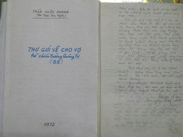 """Cuối mỗi lá thư gửi về cho vợ, không lúc nào ông Phong quên ký nháy """"Hôn em và con, hẹn ngày thống nhất"""""""