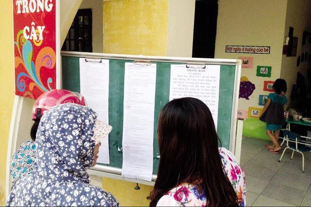 Tuyển sinh năm học 2016-2017, nhiều trường mầm non công lập tại Hà Nội thực hiện bốc thăm trúng tuyển. Ảnh minh họa: Q.Anh