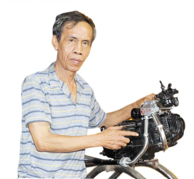 Cựu binh tài hoa Nguyễn Hữu Trọng. Ảnh: XH