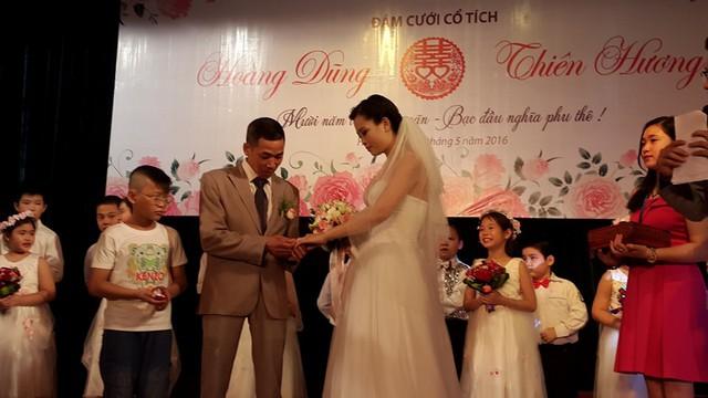 Ước mơ tổ chức một đám cưới trọn vẹn của anh chị đã thành hiện thực. Ảnh PT