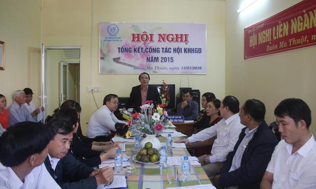 Toàn cảnh Hội nghị Tổng kết công tác Hội KHHGĐ tỉnh Đắk Lắk năm 2015