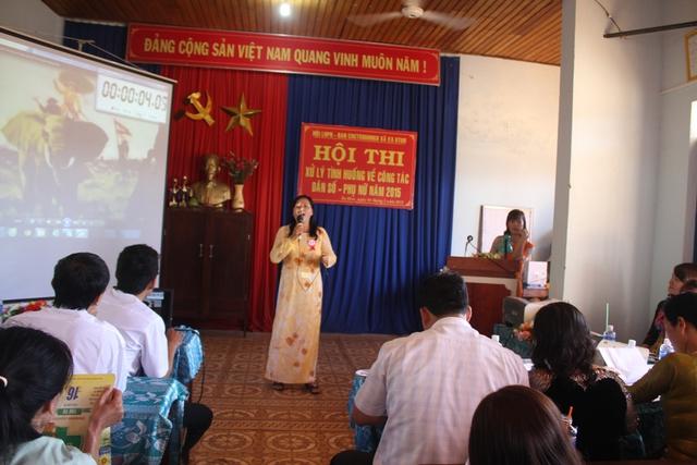 Hội thi xử lý tình huống về công tác Dân số - Phụ nữ năm 2015 ở huyện Cư Kuin
