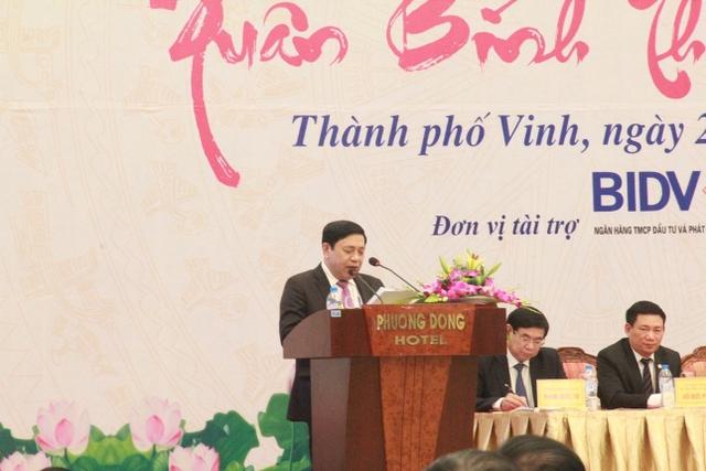 Ông Nguyễn Xuân Đường – Phó bí thư tỉnh ủy, Chủ tịch UBND tỉnh Nghệ An bảy tỏ mong muốn ngày càng có nhiều nhà đầu tư đến với Nghệ An